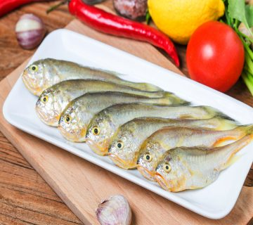 Yellow Croaker Fish with vegetables